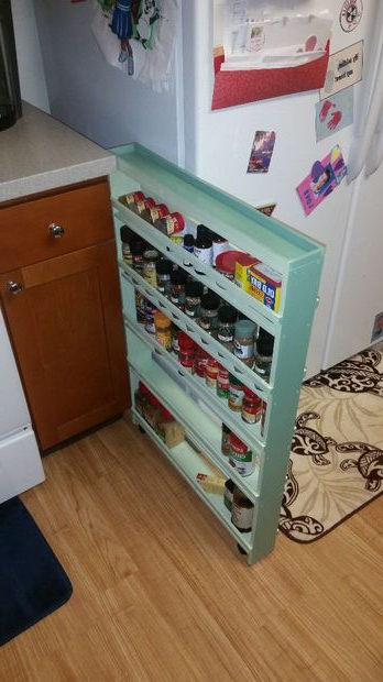 Hidden Spice Rack Diy Storage Spice Storage Diy