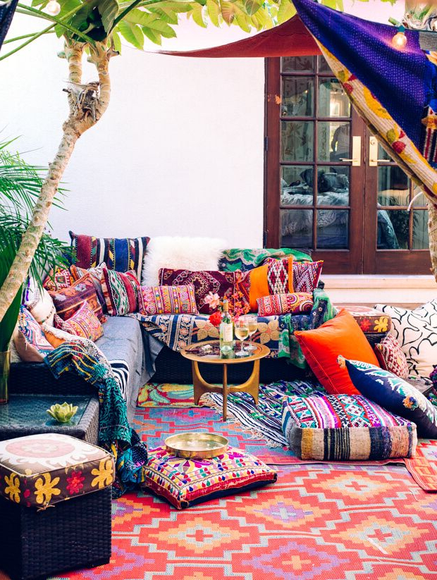 How To Create Your Own Perfect Boho Outdoor Decor Styled