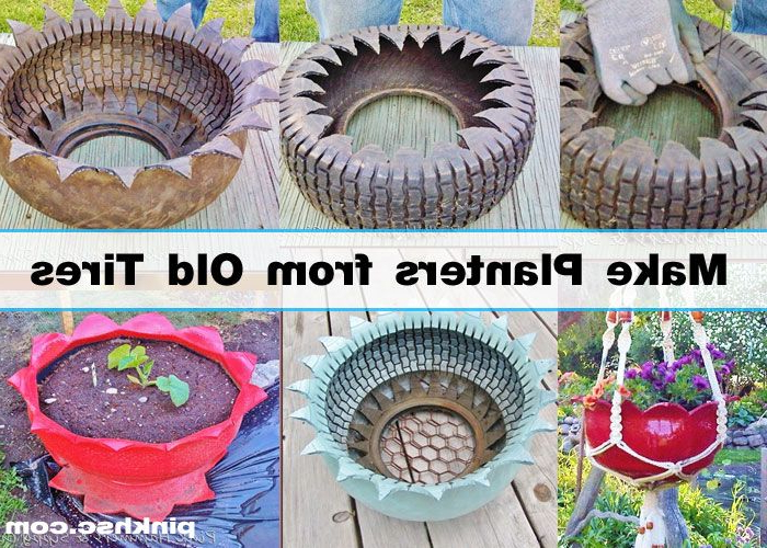 How To Make A Diy Planter From A Used Tire Diy Planters