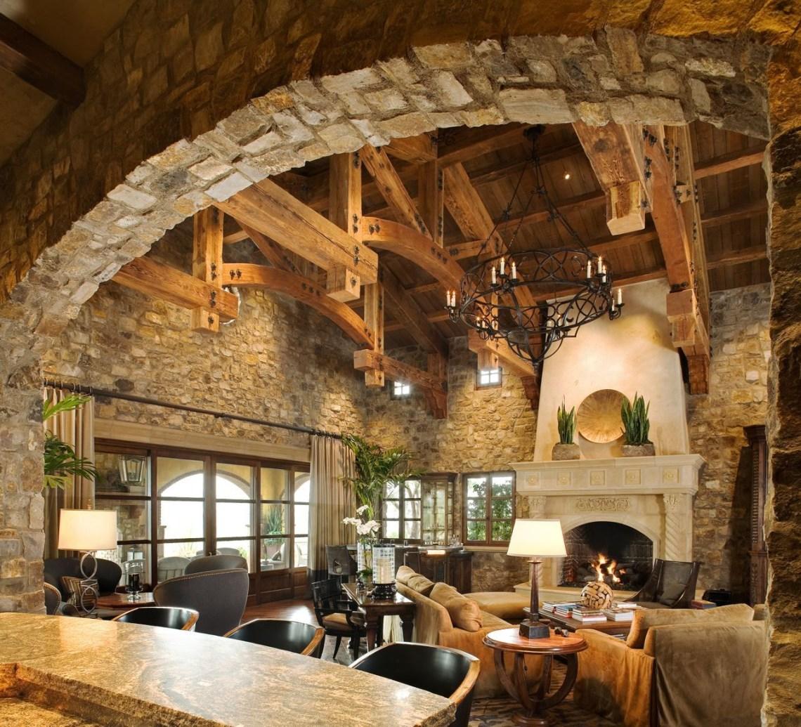 I Love The Brick Stone Rustic House Log Homes Timber
