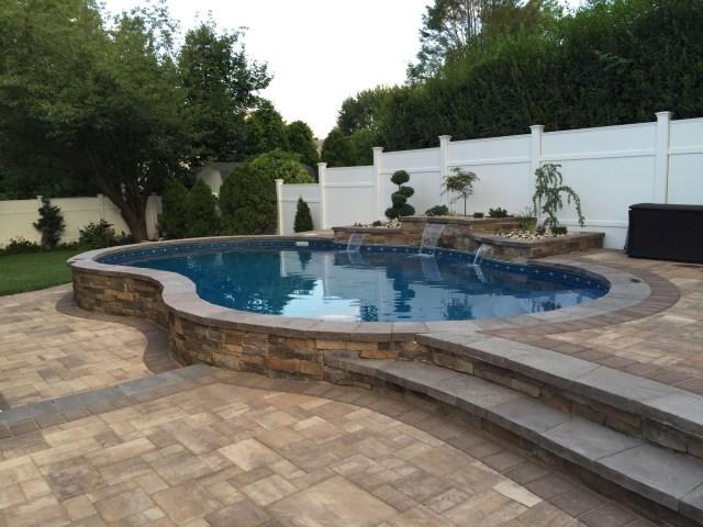 Ideas Semi Inground Pool Ideas For Exciting Backyard