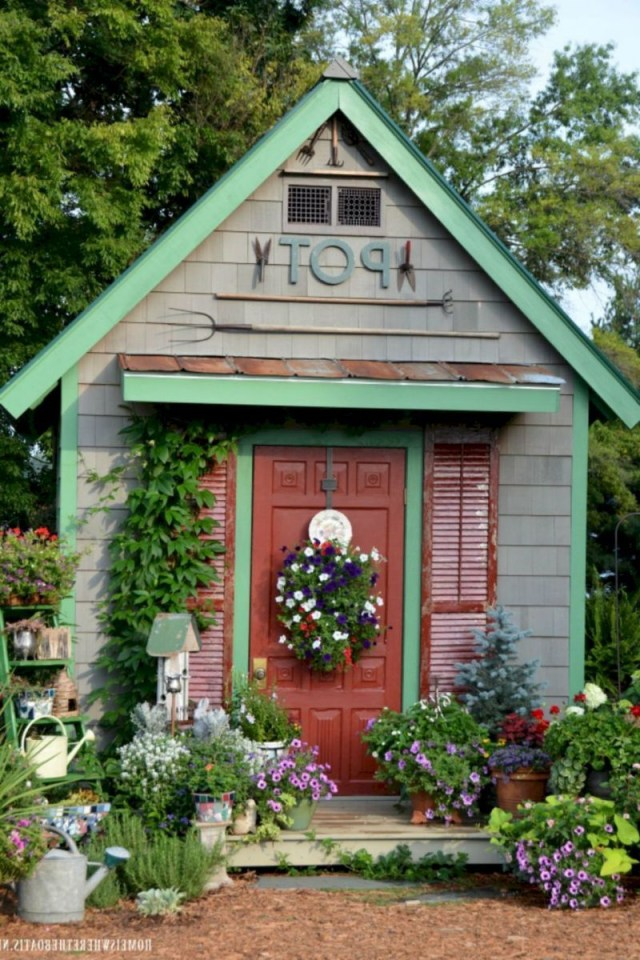Incredible Backyard Storage Shed Makeover Design Ideas 45