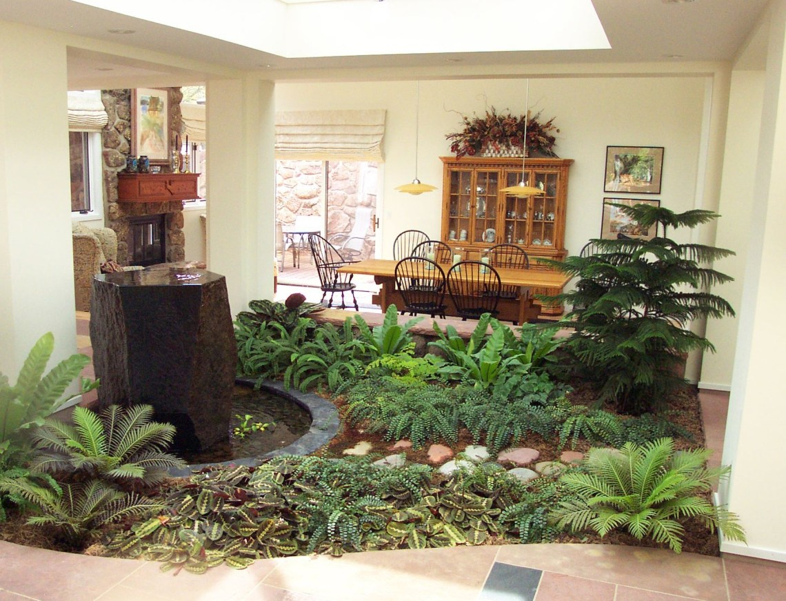 Indoor Atrium Beautiful Small Homes Small Garden Design