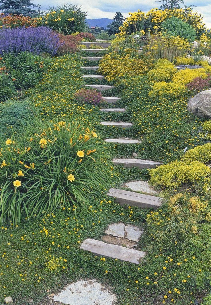 Informal French Gardens On Hillside Google Search