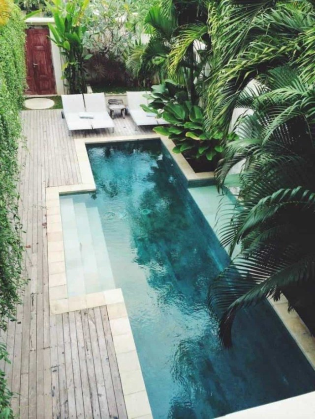 Inground Beautiful Small Pool Designs Landscaping And