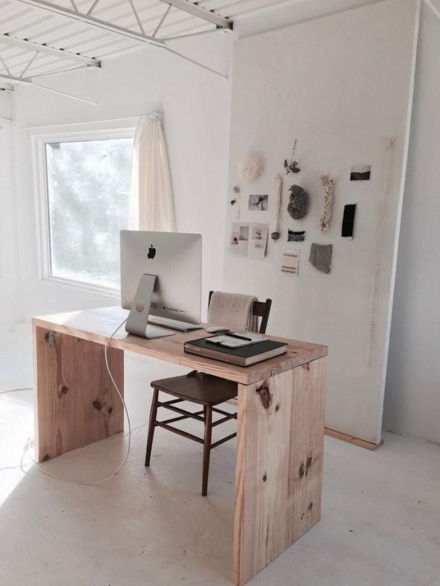Inside Han Starness Dreamily Minimalist Nashville Studio Of A Kind Home Office Decor