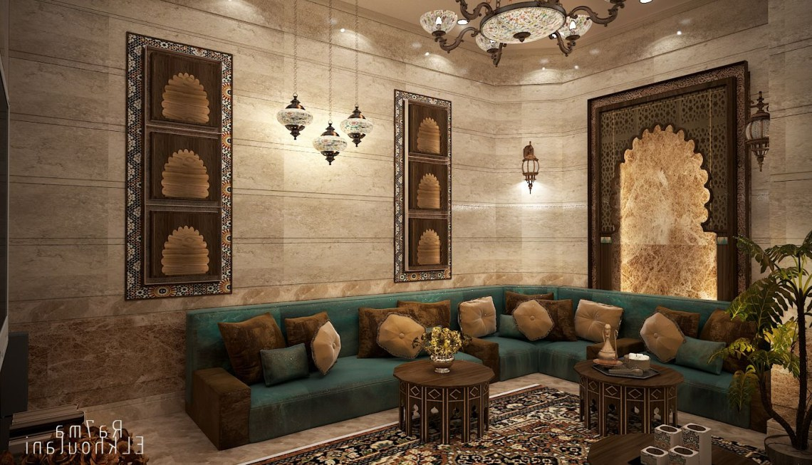 Interior Design Moroccan Sitting Room In Saudi Arabia