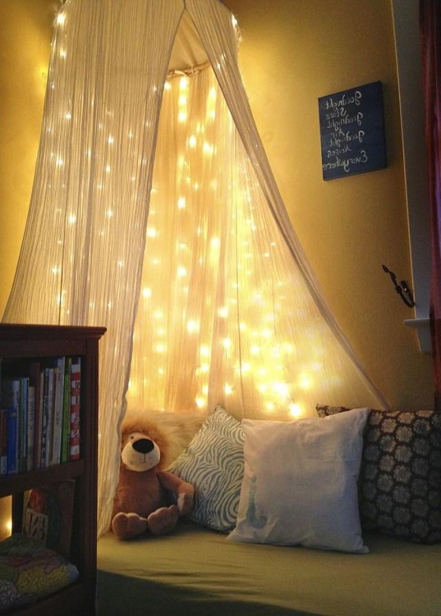 Kids Bedroom Beautiful Fairy Light Ideas Toddler Reading