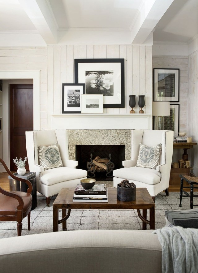 Lake House Great Room Living Family Room Media Rustic Cottage Mo Modern Farmhouse Living Room