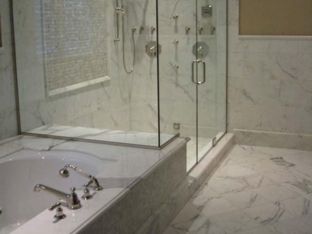 Large Bathroom Wall Mirror White Marble Bathroom Shower