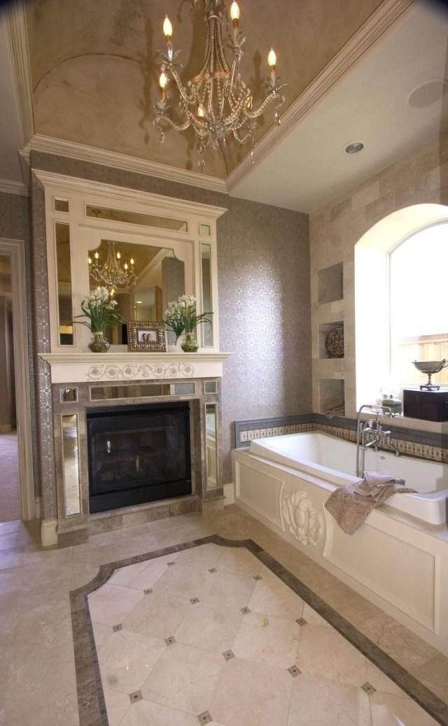 Large Bathroom With Alcove Bathtub Containing Lavish
