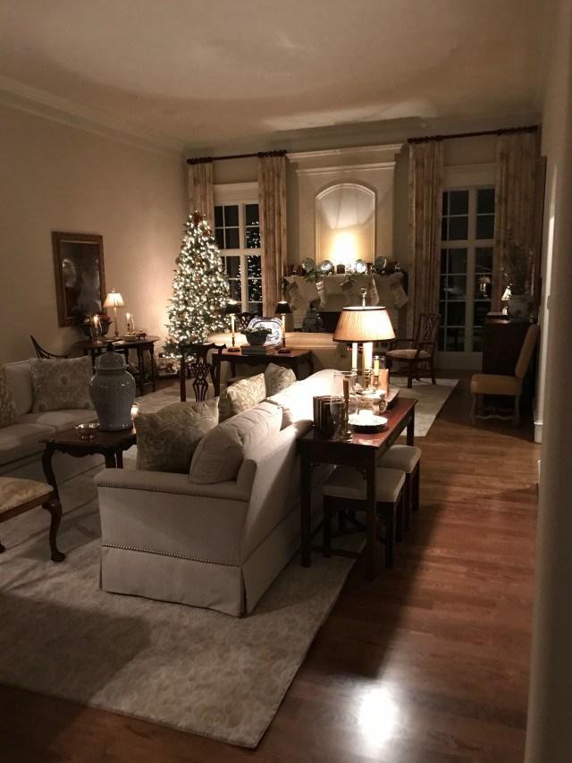 Living Room Night Decor And Please Those Windows Facing
