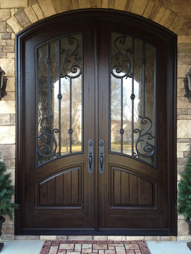 Looks Like The Door Is Frowning Double Front Entry Doors