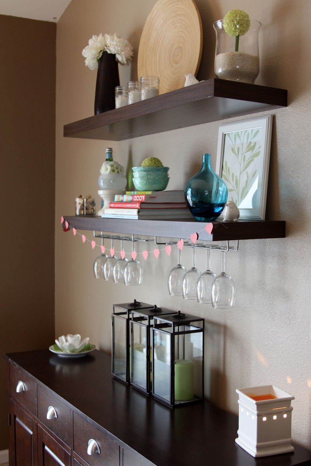 Love The Wine Glass Holders Incorporated Into The Shelving