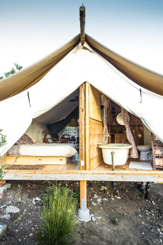 Lovely Safari Cabin Tent Near Warner Springs California