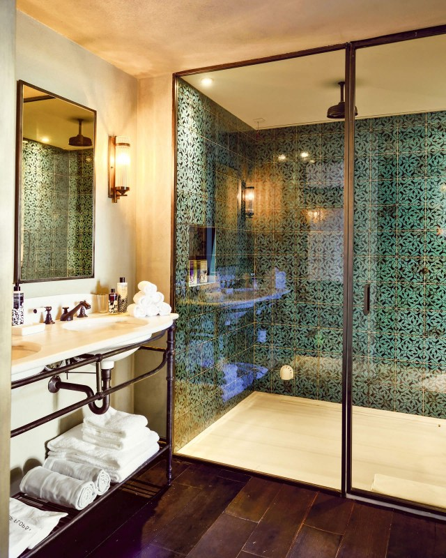 Lusting After These Turquoise Shower Tiles From Soho Home