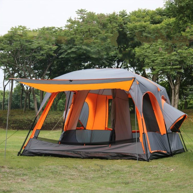Luxury Ultralarge One Hall Two Bedrooms Tent 6 8 10 12 Person Outdoor All Season Camping Tent