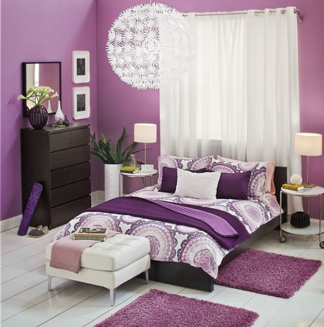 Lyckoax Duvet Cover And Pillowcases White Lilac