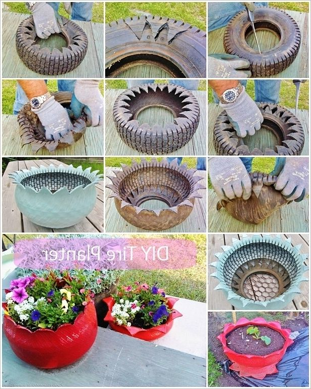 Make These Wonderful Tire Planters For Your Garden Tire
