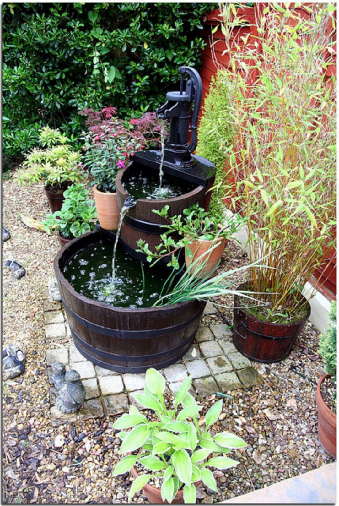 Marvelous Small Front Garden Design With Waterfall Ideas