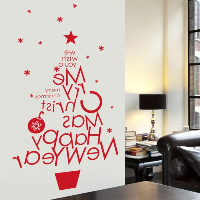 Merry Christmas Decoration Wall Stickers Tree Wall Tattoos