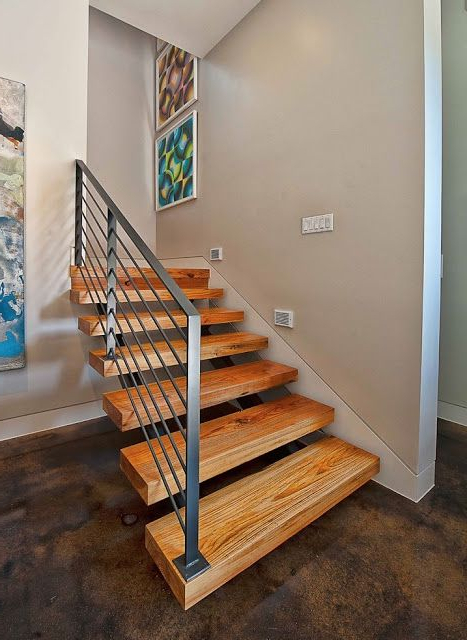 Modern Stairs Concrete Floor Stair Remodel Staircase