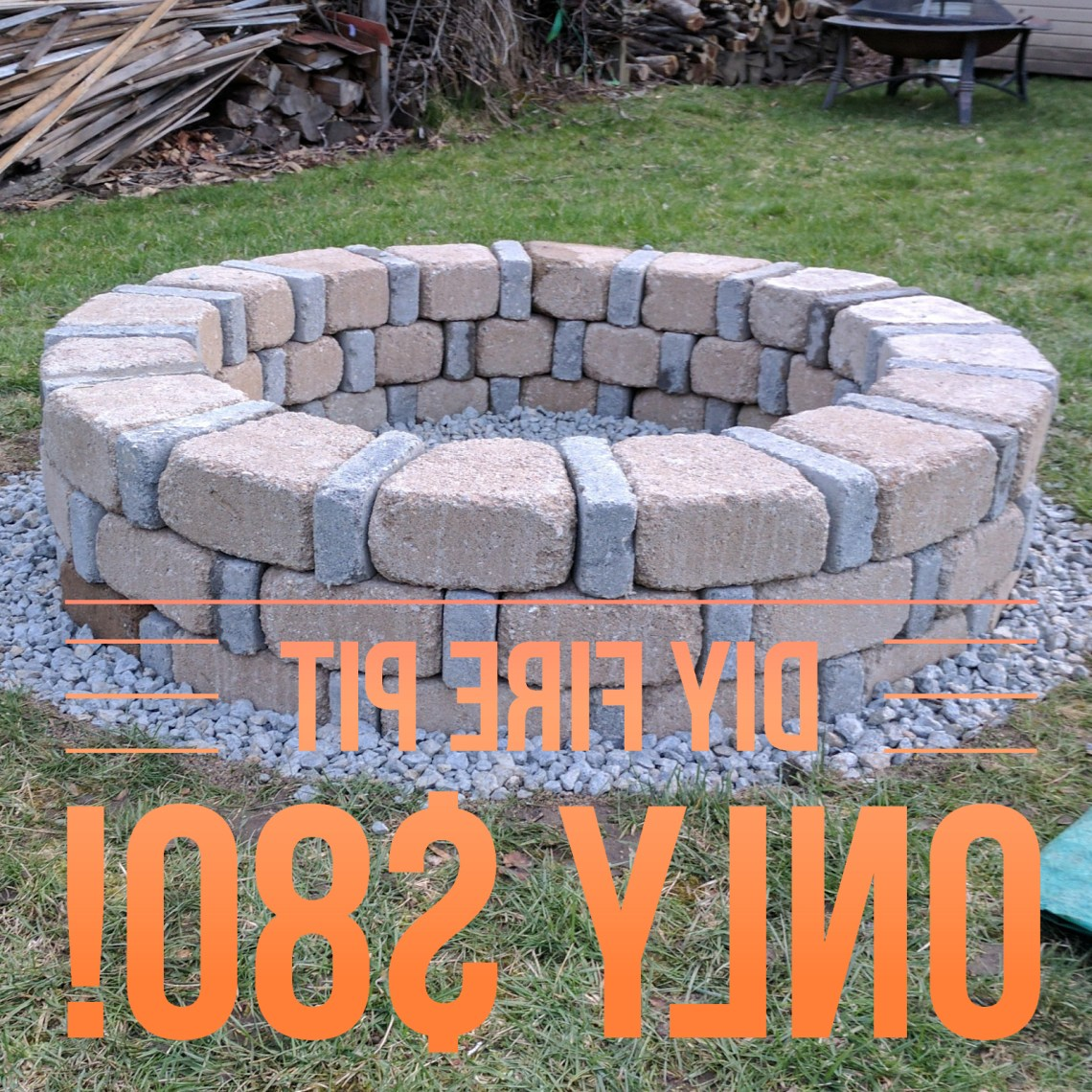 My Mother Asked Me To Build Her A Brick Fire Pit That She