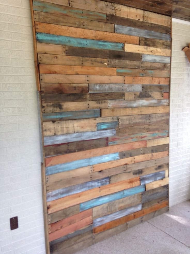 My Pallet Wall In 2019 Wood Wall Design Diy Pallet Wall Ship Lap Walls