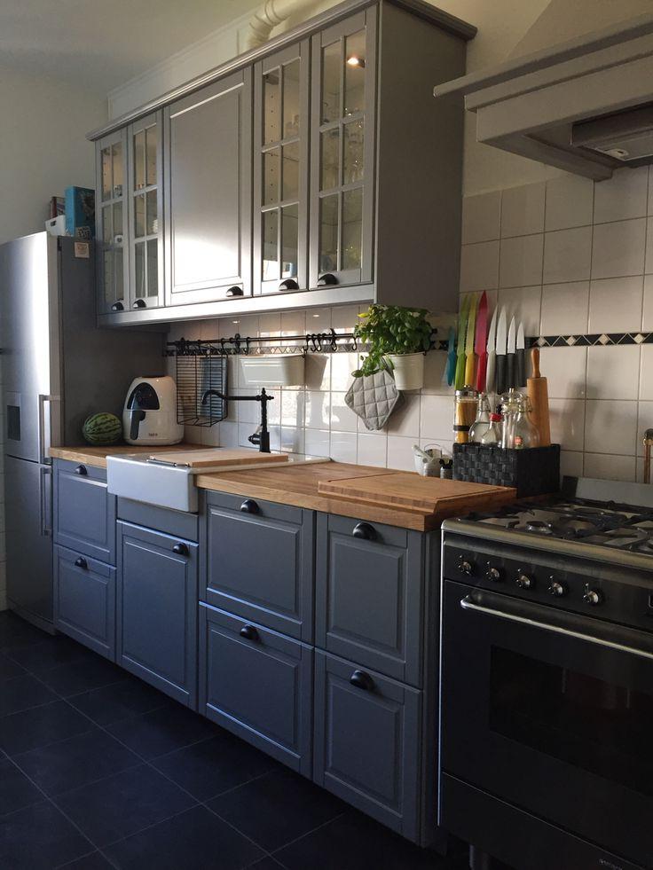 New Kitchen Ikea Bodn Grey Cuisine Bodn