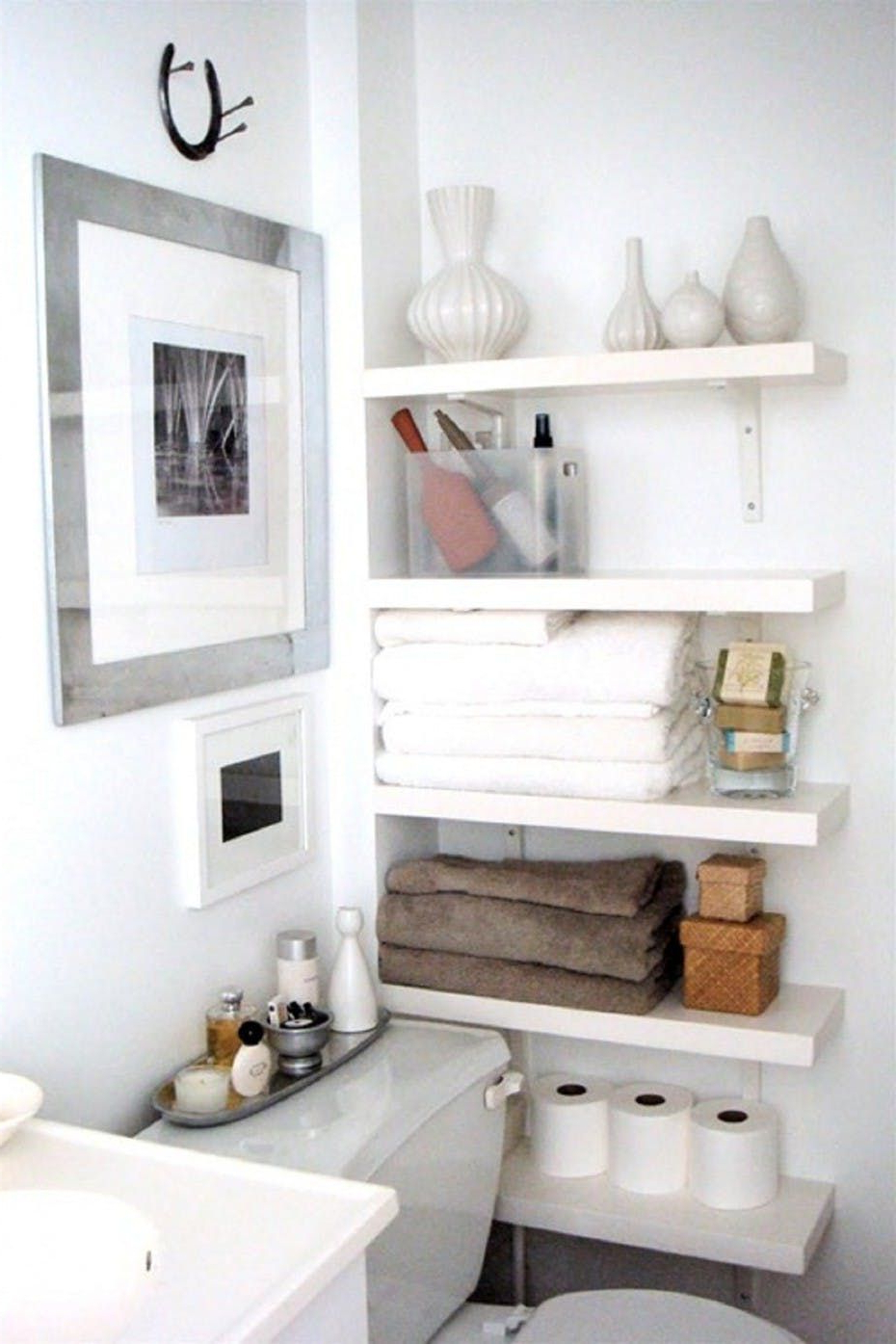 No More Small Bathroom Woes 6 Places To Add Shelving For