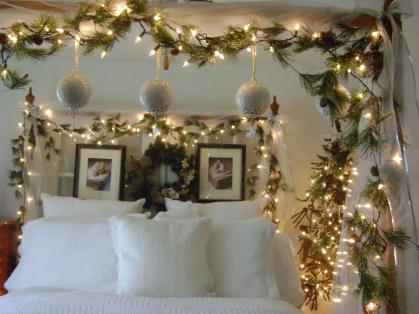 Our Creative Life White Christmas Bedroom