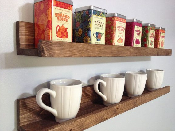 Our Rustic Wooden Coffee Tea Shelves Save Counter