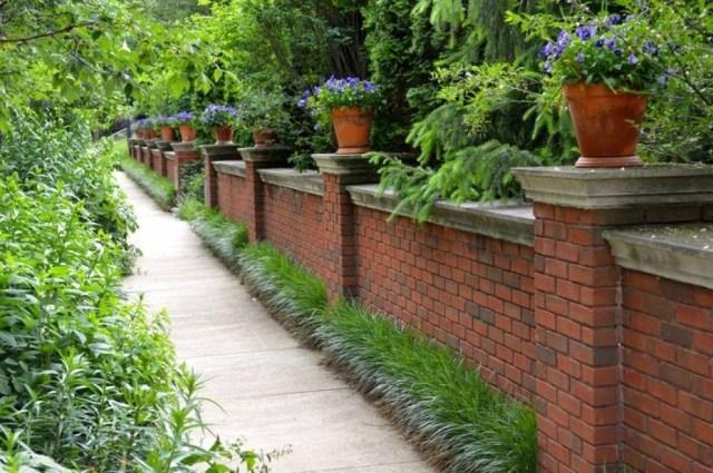 Outdoor Brick Fences Providing Privacy