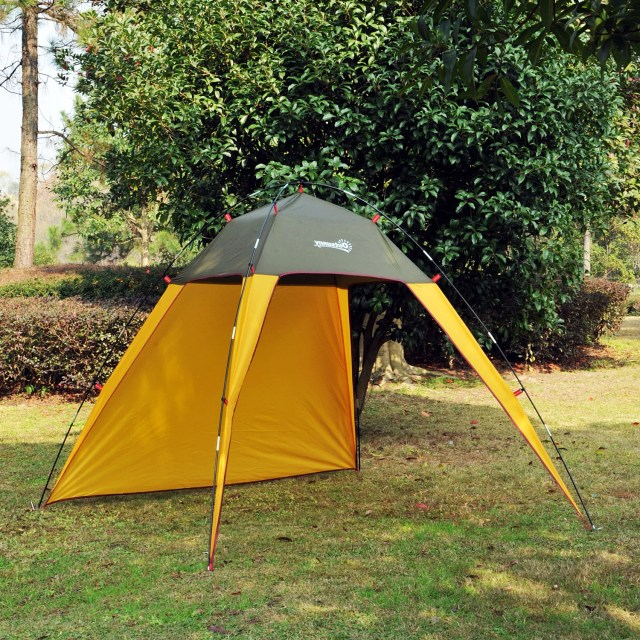 Outsunny Outdoor Beach Tent Shelter Sun Shade Patio Camping Fast Pitch Tentsaosomca