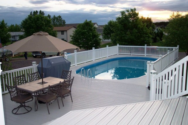 Oval Above Ground Pool Deck Plans Above Ground Swimming