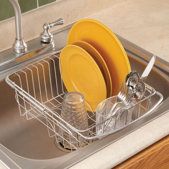 Over The Sink Dish Drainer Rack With Images Sink Dish