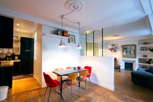 Paris Studio Apartment Merges Classic Contemporary With