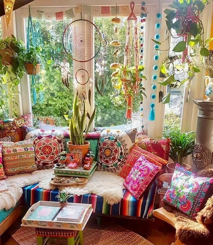 Porch For Coffee And Sunshine Bohemian Living Room