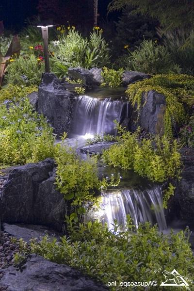 Pretty Backyard Lighting Ideas For Your Pond Waterfall