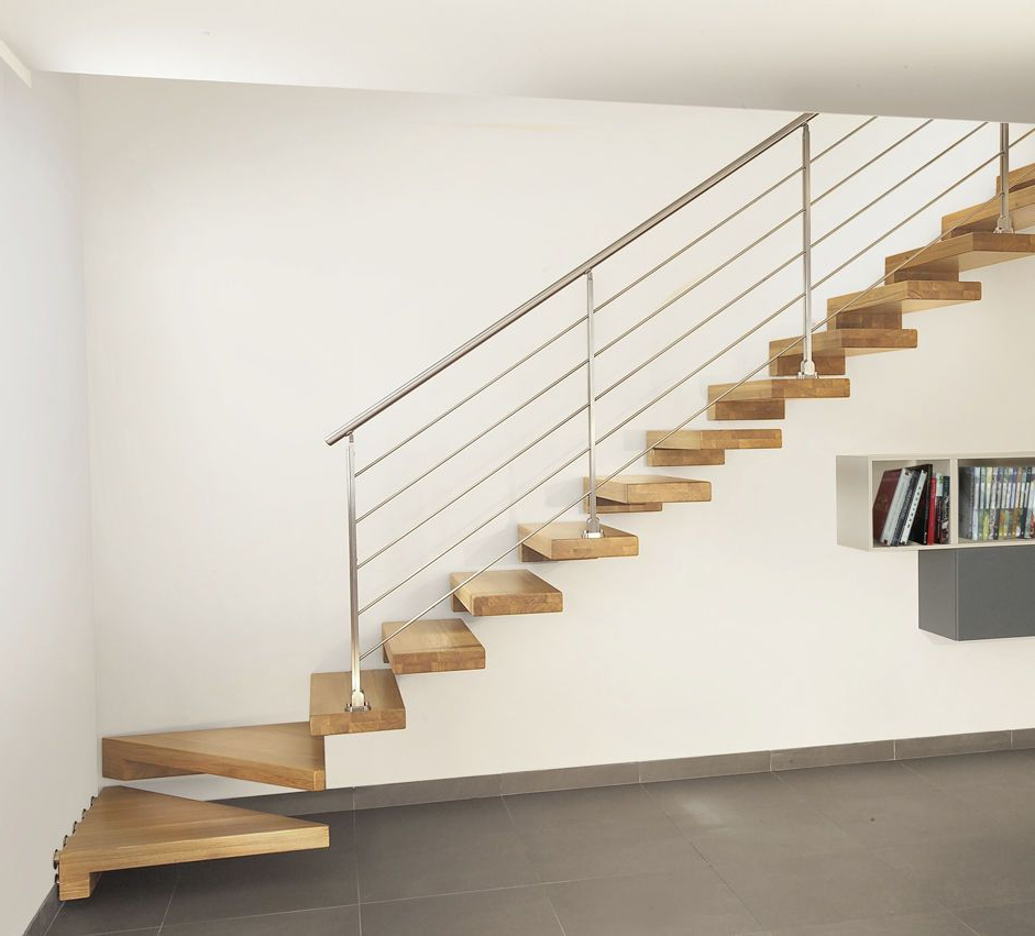 Quarter Turn Floating Staircase Stairs Design