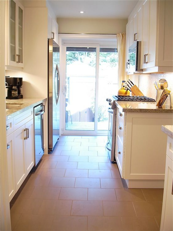 Rambling Renovators Galley Style Kitchen With Sliding
