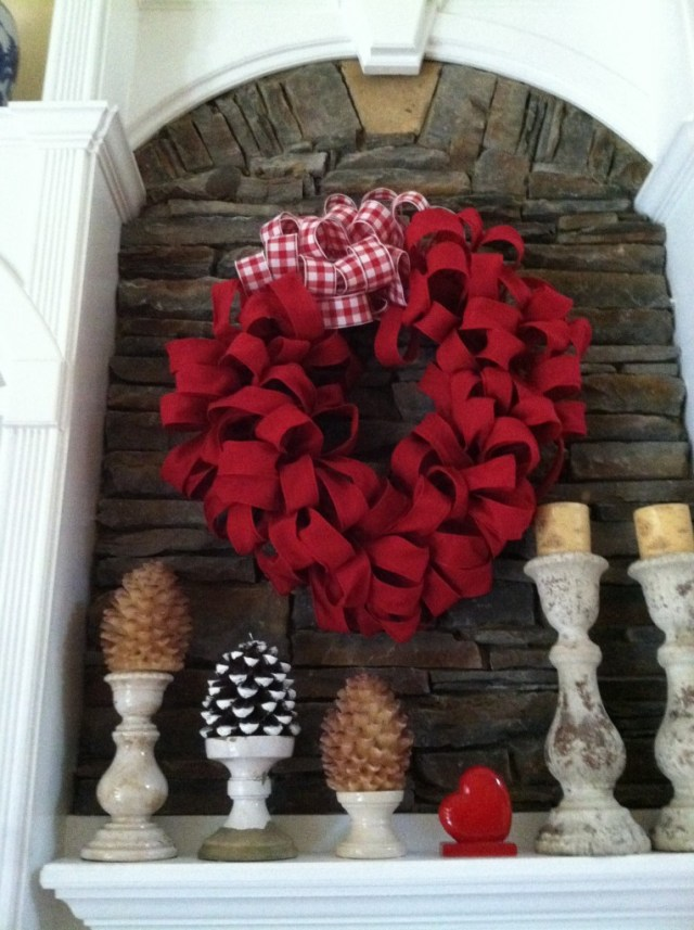Red Burlap Wreath Valentines Day Mommy Blogs