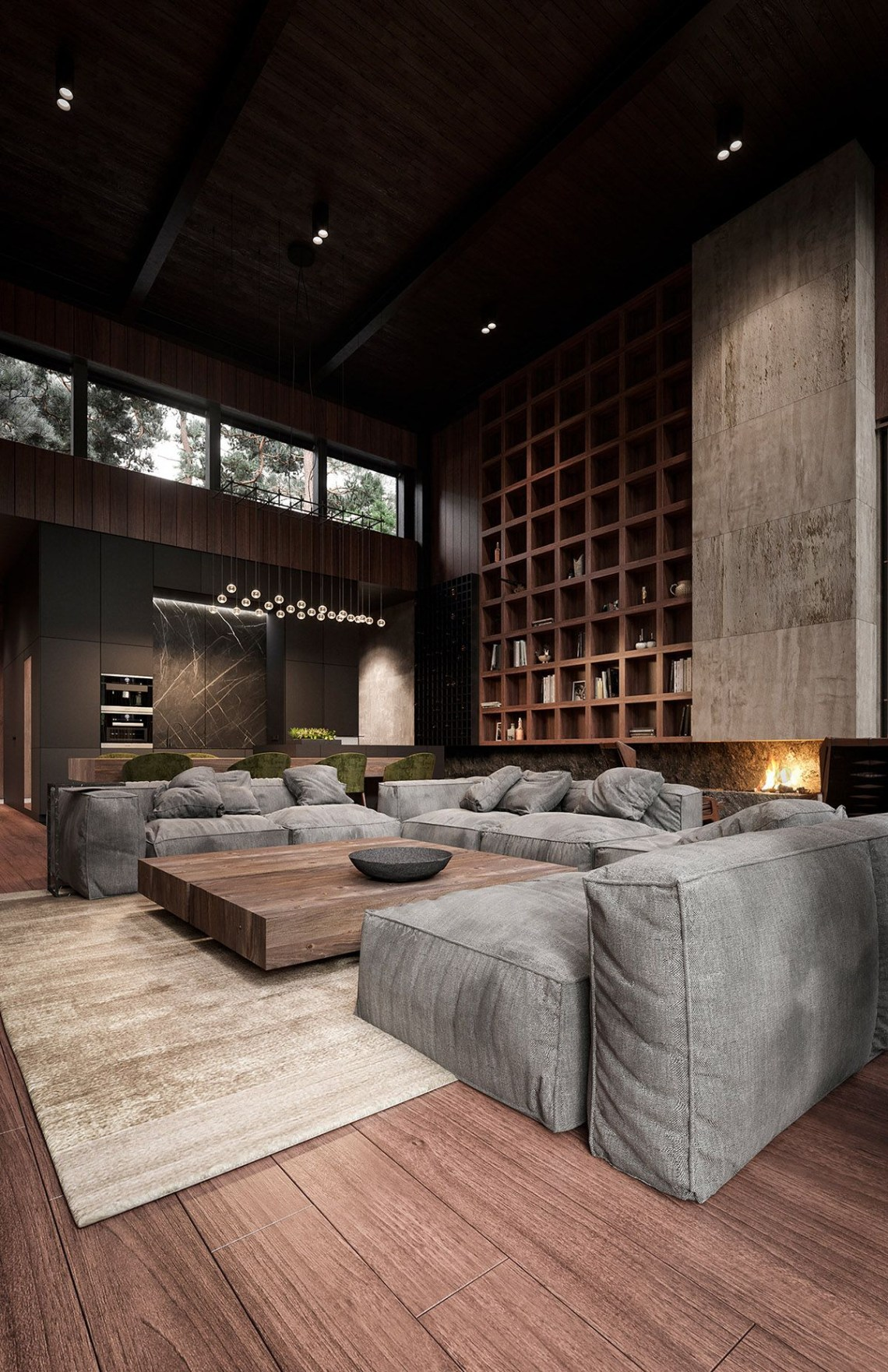 Rich Exquisite Modern Rustic Home Interior Minimalism