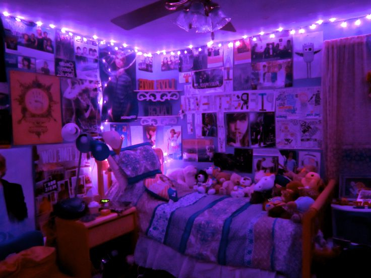 Room Rooms Bedroom Bedrooms Purple Lights