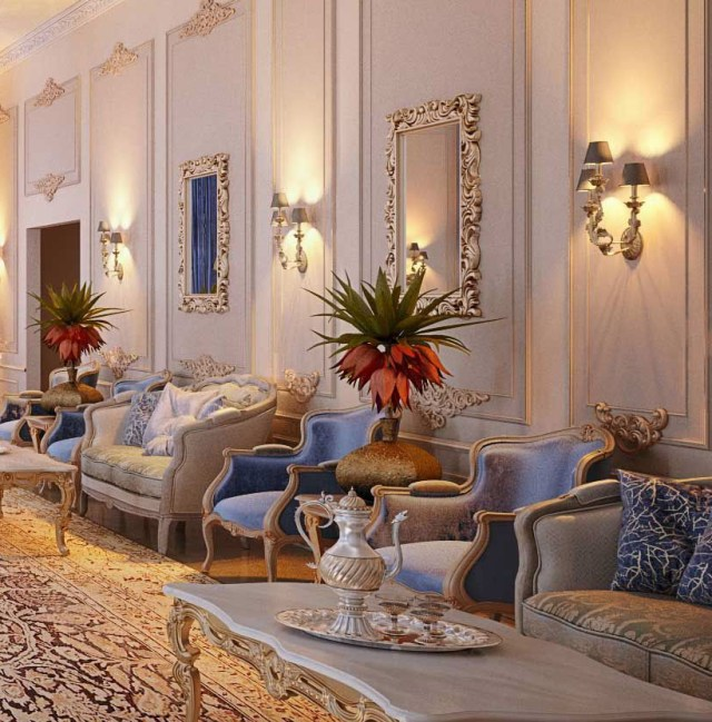 Royal Blue Majlis Doha Qatar On Behance Luxury Living