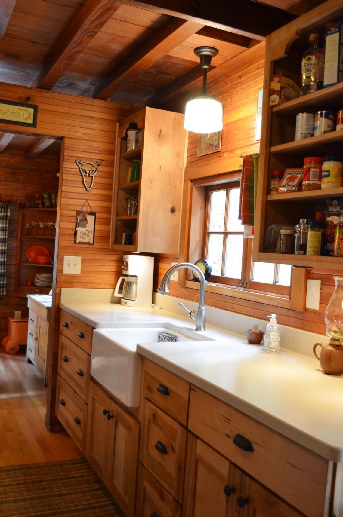 Rustic Cabin Galley Kitchen Cultivate Rustic