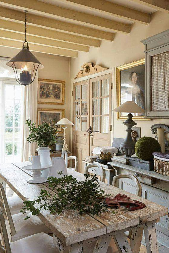 Rustic Farmhouse Dining Room French Country Dining Room
