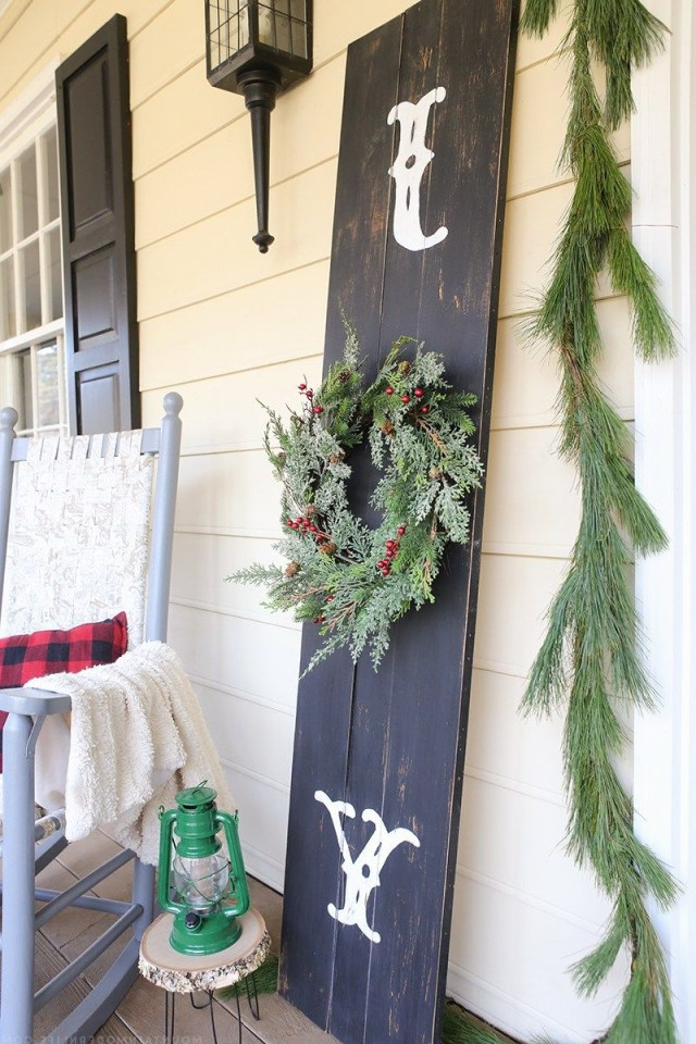 Rustic Front Porch Christmas Sign Christmas Diy Outdoor