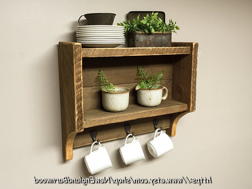 Rustic Kitchen Shelves Kitchen Spice Rack Country Kitchen