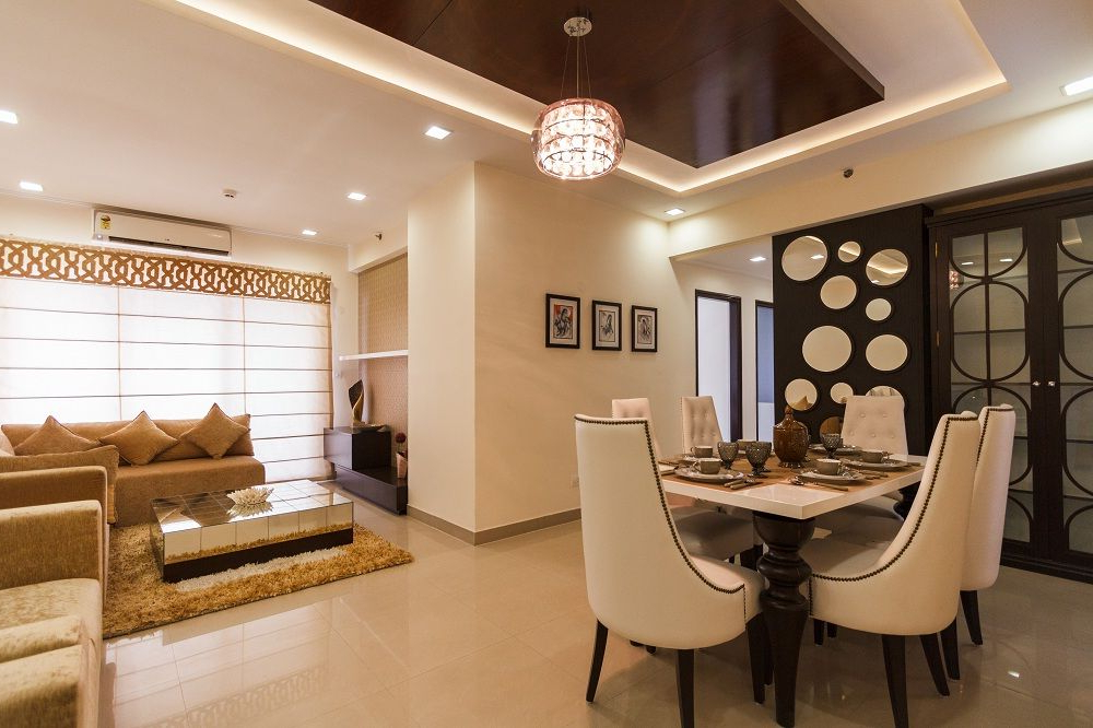 Sample Flat Interior Living Room Dining Room Combo